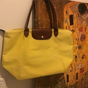 Longchamp le pilage tote preowned